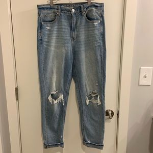 """American Eagle Distressed """"Mom"""" Jeans"""